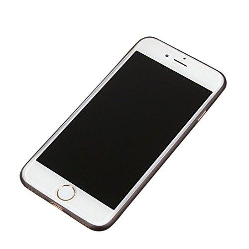 GillBerry 1PC sencillo delgado Choque absorción colorido PC ˈbəmpər Parachoque Funda protectora por iPhone 7 4,7 pulgadas