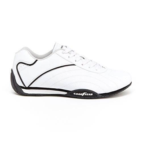 Goodyear Mens Ori Racer Sneaker – Low-Top Sneakers, PU Leather & Mesh ()