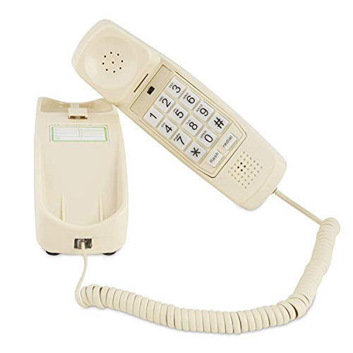 Trimline Corded Phone - Phones for Seniors - Phone for Hearing impaired - Classic Bone Ivory - Retro Novelty Telephone - an Improved Version of The Princess Phones in 1965 - Style Big Button