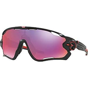 Oakley Men's Jawbreaker Non-Polarized Iridium Rectangular Sunglasses, Matte Black, 31 mm