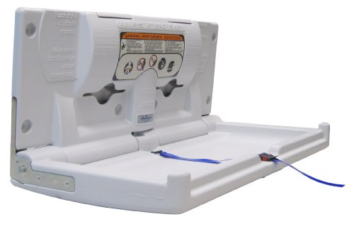 Horizontal Station Changing - Continental 8252-H White Horizontal Baby Changing Station