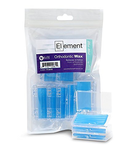 Element Dental Orthodontic Wax 10 Pack-10 Colors/scents Available (Blue/Mint)