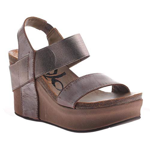 OTBT Women's Bushnell Wedge Sandals - Pewter - 8.5 M US