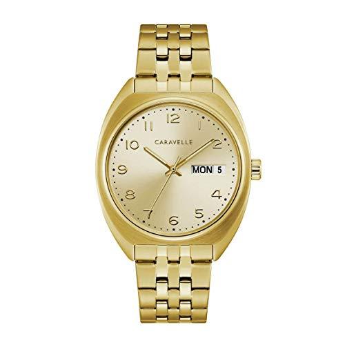 Caravelle 44C110 Mens Gold Tone Bracelet Watch