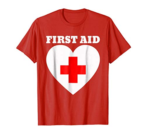 First Aid T-Shirt | Red Cross Emergency Lifeguard Staff -