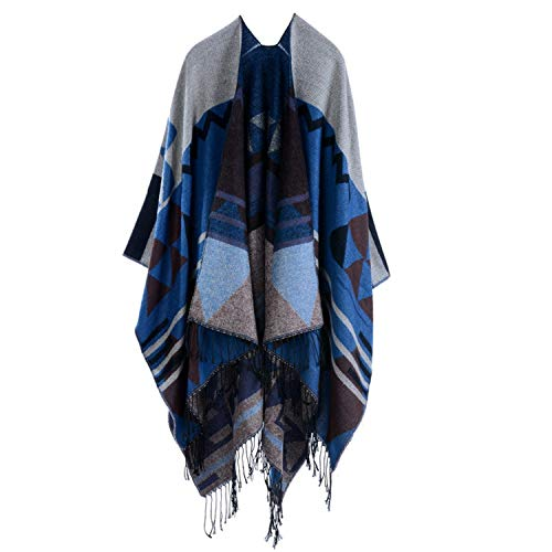 Luzlen Women's Fashion Poncho Capes Blanket Scarf Hood Tassel Shawl Wrap Cardigans Coat