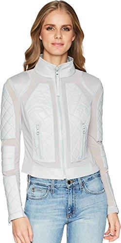 Blanc Noir Women's Moto Jacket Grey 1 Large