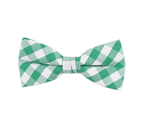 Born to Love - Boys Kids Pre Tied Adjustable Bowtie Christmas Holiday Party Dress Up (Medium, Green White (M Dress Up Ideas)