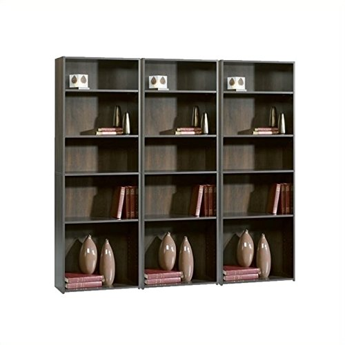 Sauder Beginnings 5-Shelf Bookcase, Cherry (Narrow Drawer Lock File Cabinet)