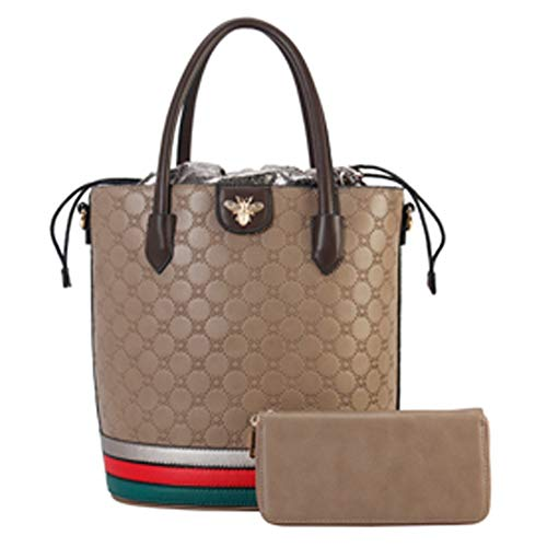 a83df7b580c59 Lady s Moment Women Purses and Handbags Tote Bags Leather Top Handle Bag  2pcs