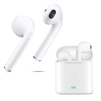 Auriculares Bluetooth In-Ear Mini auriculares inalámbricos TWS con antirretorno Bluetooth,Auriculares estéreo para el coche V4.2,con micrófono incorporado ...