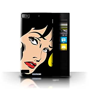 STUFF4 Phone Case / Cover for Blackberry Z3 / Black Hair Design / Comic Illustrated Girls Collection
