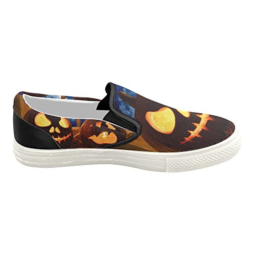 Halloween6 Pumpkin Shoes Slip Custom Halloween Fashion On Story Canvas Sneaker D Womens Happy 4Fg7WIyyqw