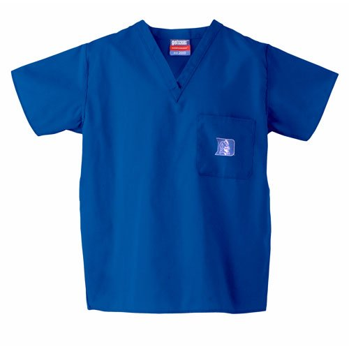 Duke Blue Devils NCAA Classic Scrub 1 Pocket Top (Royal) (3X Large) by Gelscrubs