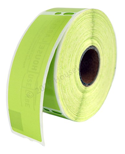 (6 Rolls; 350 Labels per Roll of DYMO-Compatible 30252 Green Address Labels (1-1/8