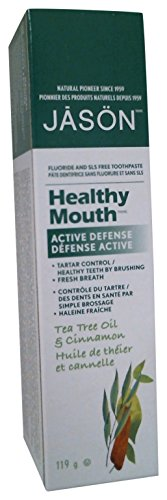 Jason Healthy Mouth Toothpaste, Tea Tree Oil & Cinnamon, 4.2 Ounces, Packaging May (Jason Healthy)