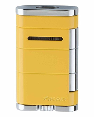 XiKAR Allume Double Flame Cigar Lighter in an Attractive Gift Box Lifetime Warranty Yellow (Double Torch Flame Cigar Lighter)