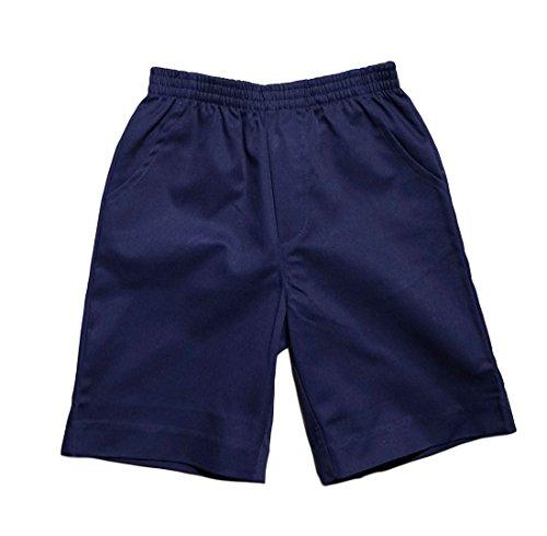 Unik Boys All Elastic Waist Pull Up Shorts Navy Size 6 (Uniform Elastic Waist)
