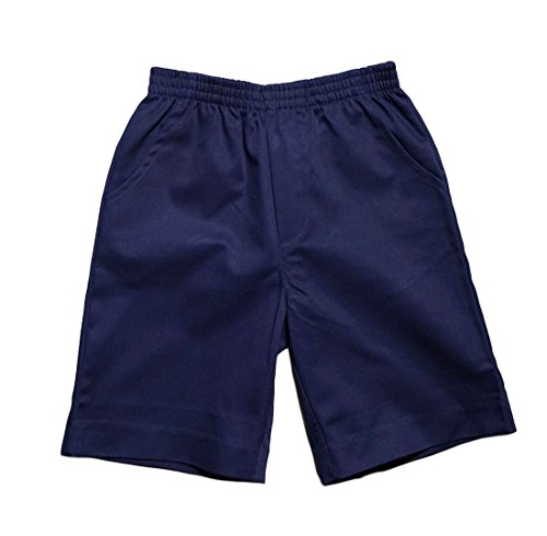 unik Boys All Elastic Waist Pull up Shorts Navy Size 8