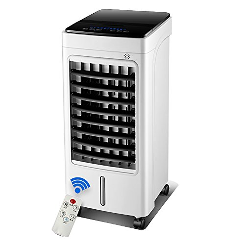 SANDM Portable Air cooler Air conditioner fan, Humidifier Mobile refrigerator cooler Intelligent remote control Evaporative coolers With dehumidifier Household-White