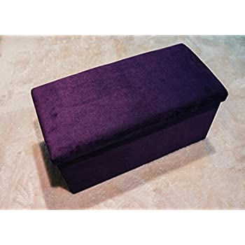 Amazon Com Fhe Group Microsuede Folding Storage Ottoman