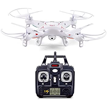 Ionic 2.4Ghz 6-Axis Remote Control Quadcopter Drone with 2.0 MP Camera (White)