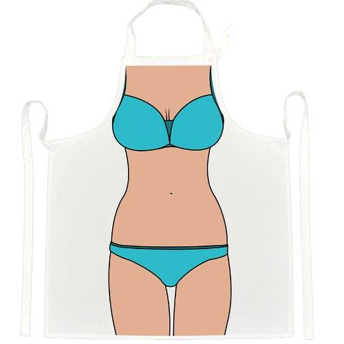 Blue Swim Suit Apron