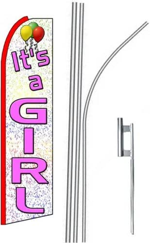 three ITS A GIRL 15 Swooper #4 Feather Flags KIT 3