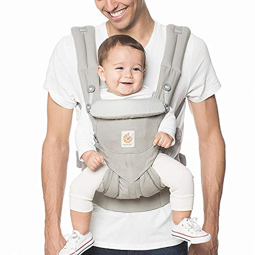 Ergobaby Carrier, Omni 360 All Carry Positions Baby Carrier, Pearl Grey (Best Baby Carrier For 3 Month Old)