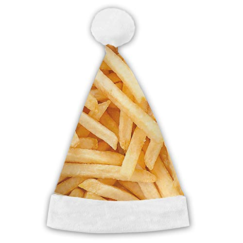 French Fries Unisex Christmas Hat Headwear Kids Adult Personalized Santa Cap -