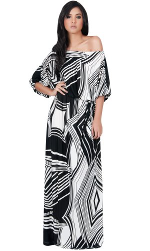 koh-koh-womens-long-sexy-summer-chevron-3-4-sleeve-evening-gown-printed-graphic-designer-casual-work