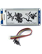 2.9inch e-Paper Display Module, 296x128 Resolution 3.3V/5V Two-Color epaper Display E-Ink Screen Module SPI Interface Compatible with Raspberry Pi/Arduino/Nucleo Support Partial Refresh