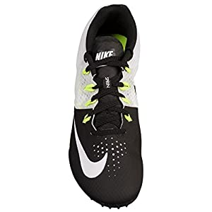 NIKE Men's Zoom Rival S 8 Track & Field Spikes, Blk/Wht/Volt