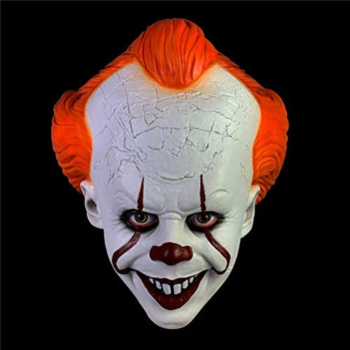 Maschera da Clown Divertente Spaventosa Inquietante da Uomo Joker Mask con Capelli Verdi Maschera per Halloween Maschera Costume Festa e Cosplay Festa Hautton Maschera in Lattice di Halloween