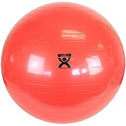 "CanDo Non-Slip Vinyl Inflatable Exercise Ball, Red, 37.4"""