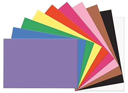 12 Cardstock Multi Pack - SunWorks Construction Paper, 10 Assorted Colors,  12