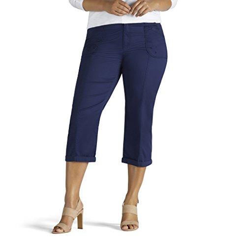 LEE Womens Plus-Size Relaxed Fit Cordelia Capri Pant