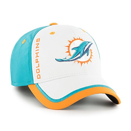 '47 Brand Crash Line Miami Dolphins Fitted Hat