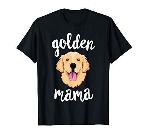 Golden Retriever Mama T-Shirt for Women Mother Dog Pet Gift