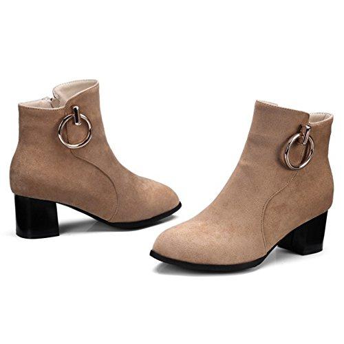 COOLCEPT Women Boots Zipper apricot immbFS
