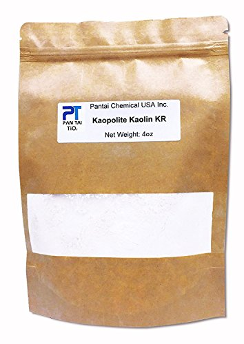 100% Natural ,Pure, White Kaolin KR Cosmetic Grade/ Personal Care Kaolin Clay Fine Powder Made in USA 16oz 8oz 4oz (4oz)