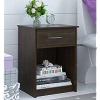 Set of 2 Nightstand MDF End Tables Pair Bedroom Table Furniture Multiple Colors(Saint Walnut)
