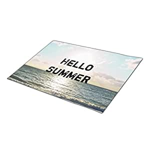 SweetyBox Custom Doormat Sunrise Hello Summer Encouraging