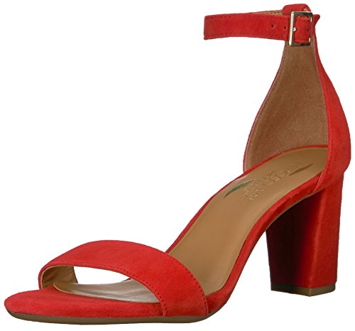 rd of Paradise Heeled Sandal, mid red Suede, 7 M US ()