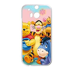 HTC One M8 Cell Phone Case White Winnie the Pooh 011 HY2394476
