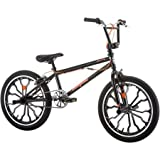 20'' Mongoose Rebel Steel Freestyle Frame Boys' BMX Bike With Front Alloy Caliper Brake And Rear U-Brake, R0914WM, 56.0 x 27.0 x 38.0