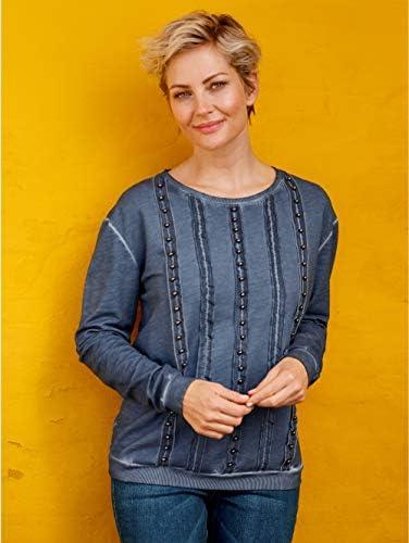 MONA Sweatshirt in modischer Färbung Blau