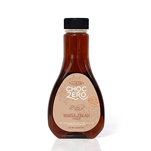 ChocZero's Maple Pecan Sugar-Free Syrup - Low Carb (1 Gram Net Carb), No Sugar, No Preservatives, No Sugar Alcohols. Rich and Thick (Premium Belgian Chocolate Truffles)