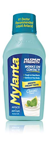 - Mylanta Antacid and Gas Relief, Maximum Strength Formula, Classic Flavor, 12 Fluid Ounce