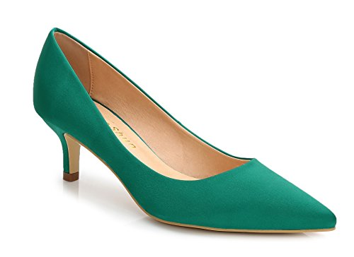 Go Court Comfort Shoes - ComeShun Green Womens Shoes Comfort Classic Kittens Dress Slip On Pump Size 6